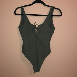 Olive one piece swimsuit